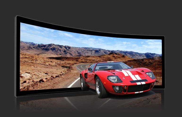 curved projection screen