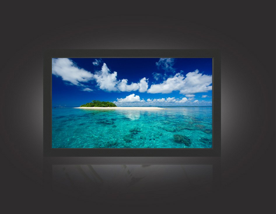 Rear projection screen with flexible material