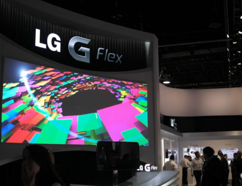 Mocom ARL screen in LG booth @ CES