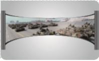 커브드 스크린, 시뮬레이션 스크린, VR 스크린, 곡면스크린