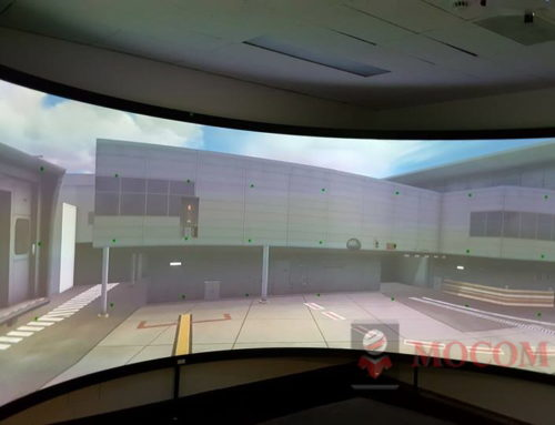 CURVED PROJECTION SCREEN FOR SIMULATION