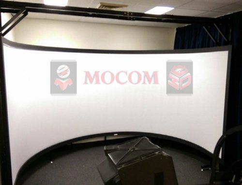 Curved Projection Screen for Flight Simulator