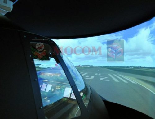 Simulation Curved Projection Screen