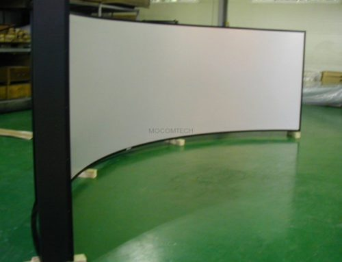 Curved Projection Screen for Simulation by Mocom